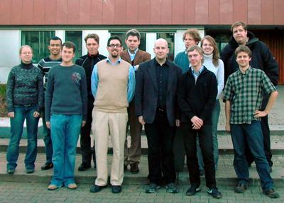 Foto der LHGler vor dem Gerlinger Rathaus