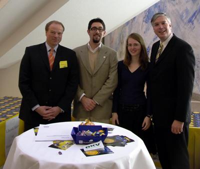 LHG-Infostand mit Dirk Niebel MdB, Alexander Schopf, Muiriel Thierhoff, Harald Leibrecht MdB
