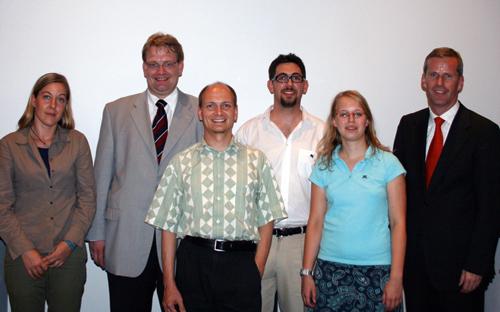 Gruppenbild, von links nach rechts: Constanze Kurz (CCC), Hartfrid Wolff MdB, Christian Schenzel (VLA), Alexander Schopf (LHG-BW), Sonja Worch (LHG Karlsruhe), Clemens Binninger MdB