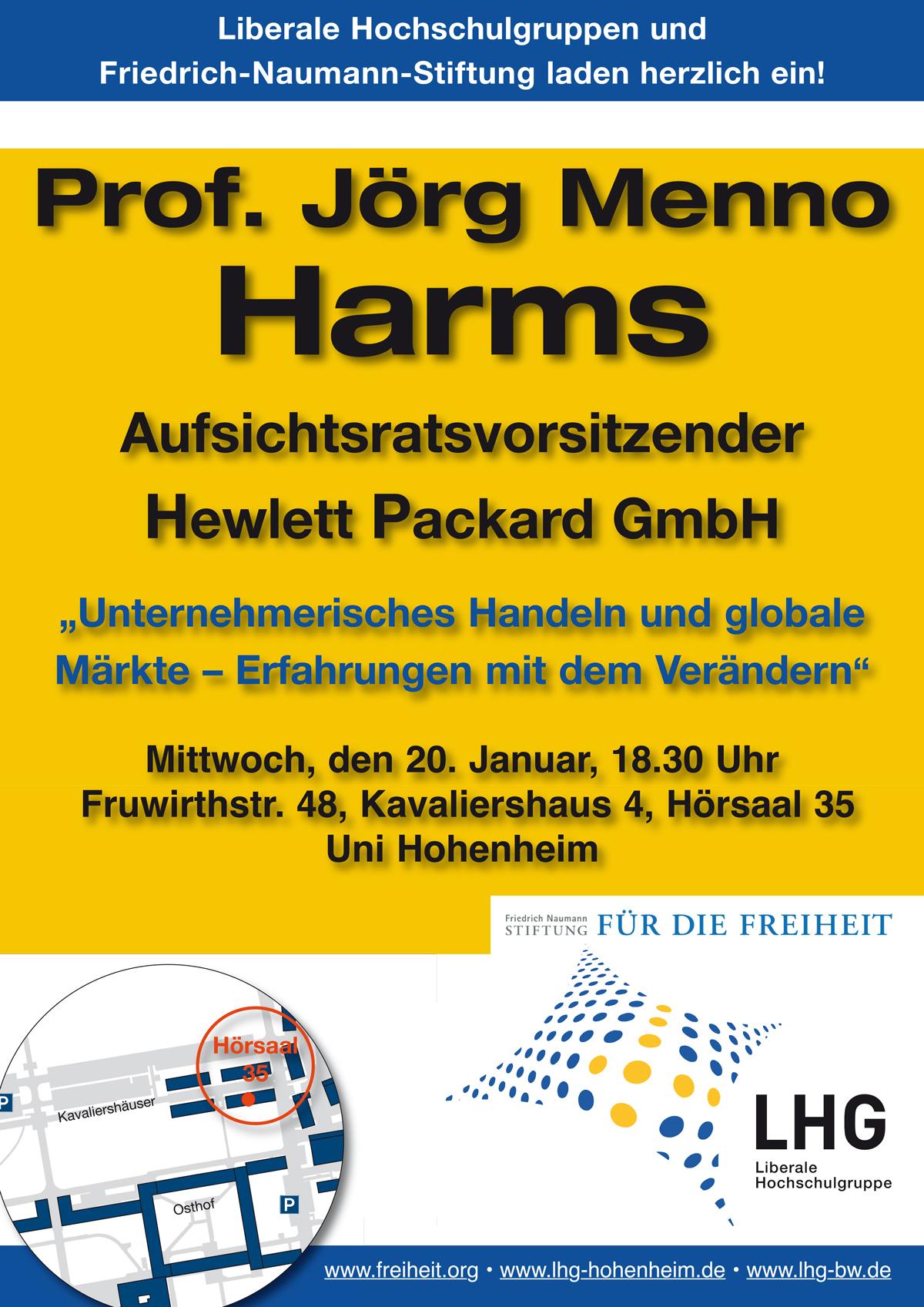 LHG-BW: Veranstaltung mit Prof. Jörg Menno Harms