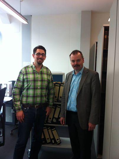 Landesvorsitzender Alexander Schopf und Prof. Dr. Ewald Grothe, der Leiter des Archivs des Liberalismus in Gummersbach