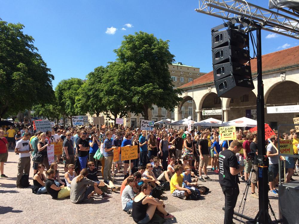 Kundgebung vor dem Landtag