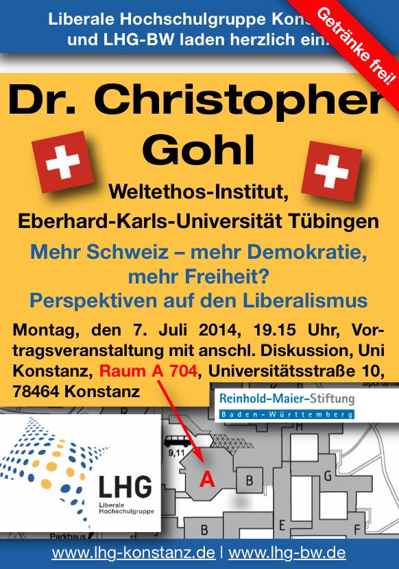 """""""Mehr Schweiz – mehr Demokratie, mehr Freiheit? – Perspektiven auf den Liberalismus"""""""