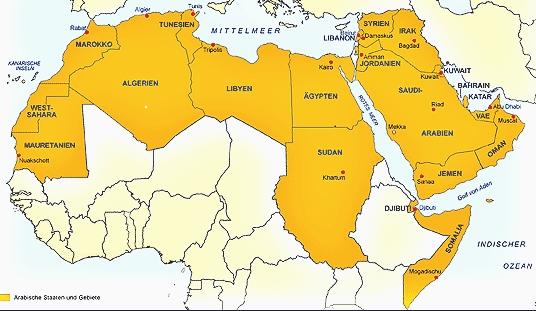 arabische sprache verbreitung