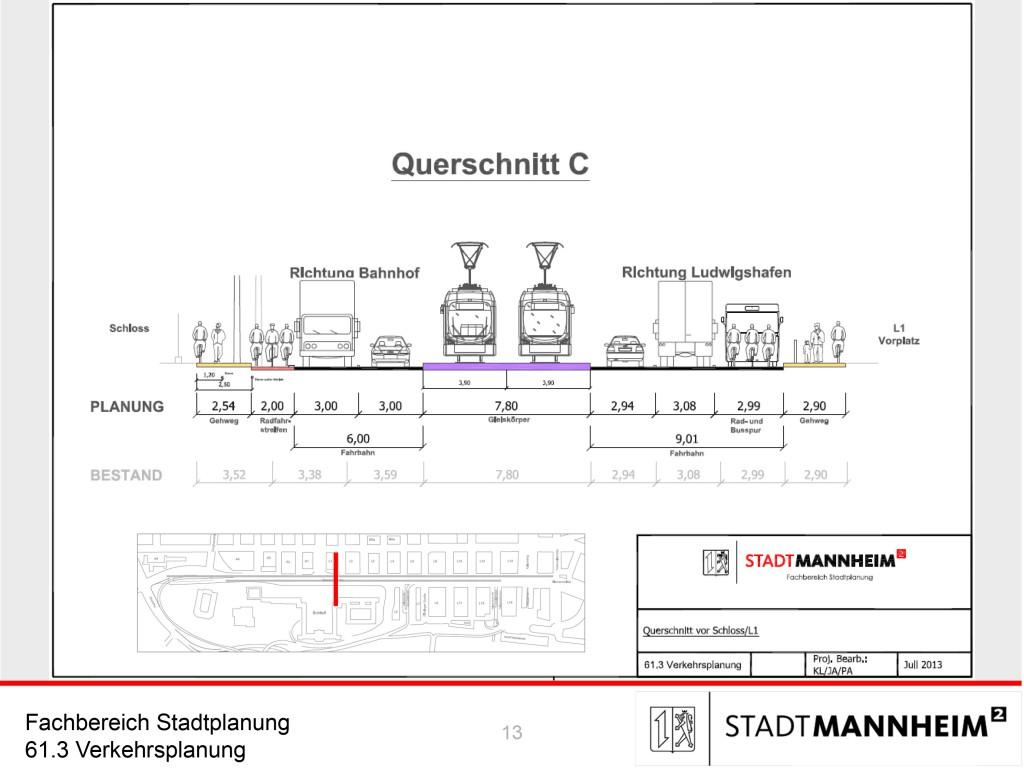 Soll so die Situation für Radfahrer an der Bismarckstraße aussehen?