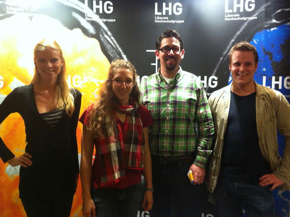 v.l.: Natalia Iost, Kathrin Rudolph, Alexander Schopf, Johannes Zeller