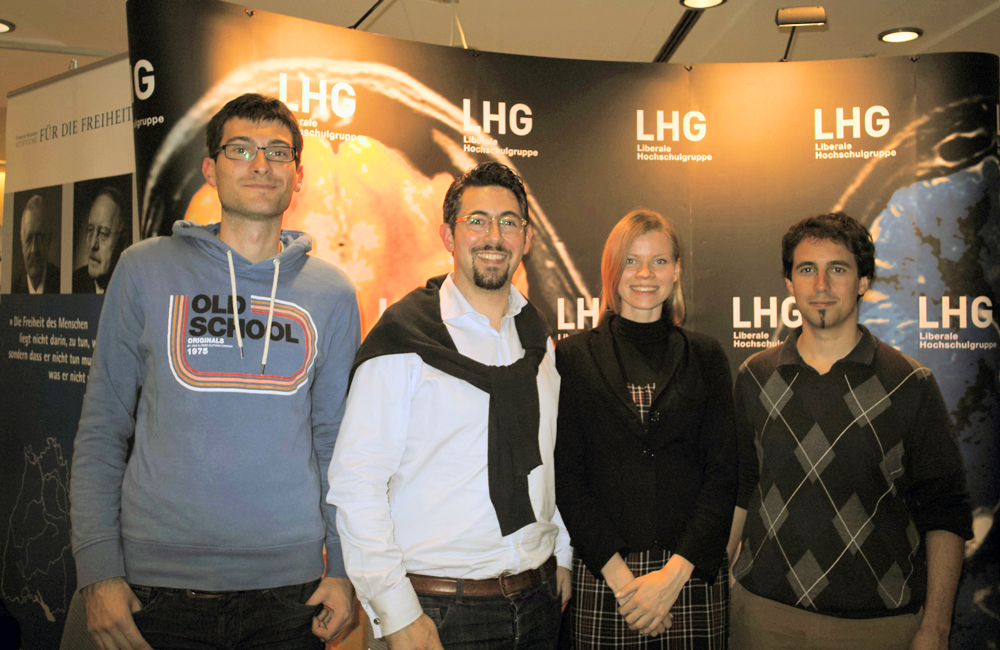 Die LHG Stuttgart: Daniel, Alexander, Natalia und Mark