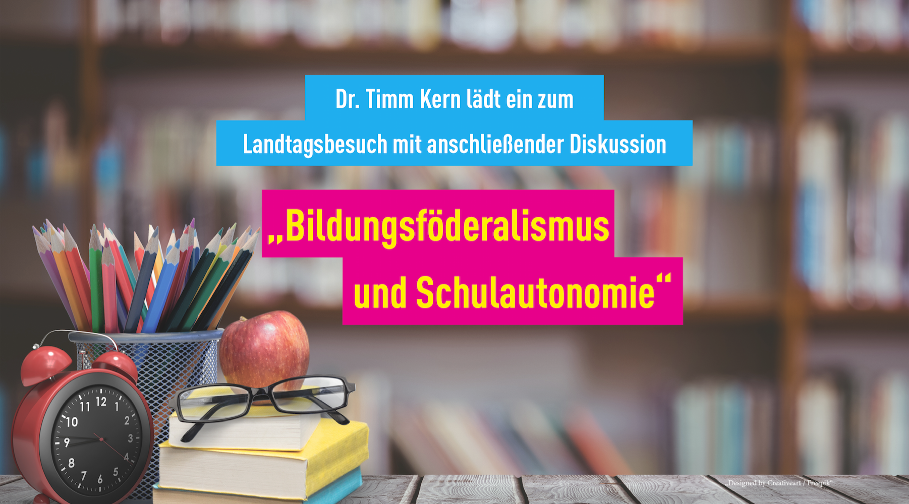 Dr. Timm Kern MdL | Einladung zu Landtagsbesuch und Diskussion