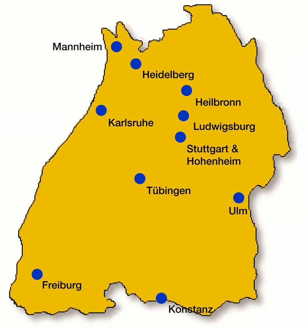 Karte von BW