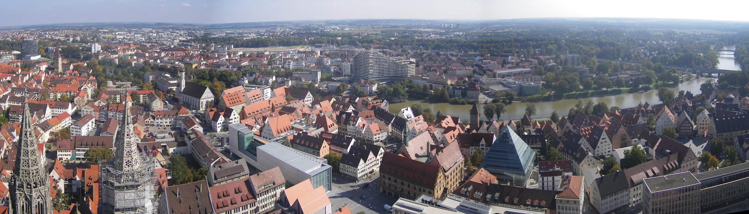 Blick auf die Donau vom Münster