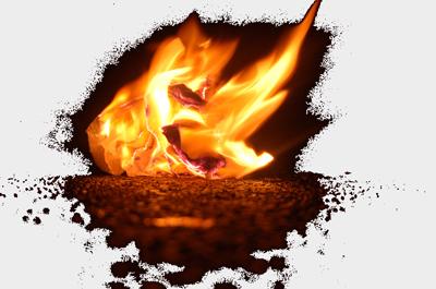 Brennendes Papier - Vielleicht gar eine Klausur aus Hohenheim?! ;-)
