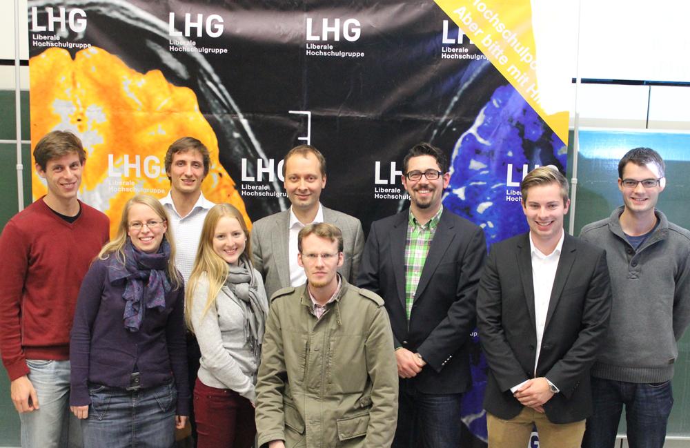 Holger Krahmer MdEP mit LHGlern aus Karlsruhe und Landesvorstand