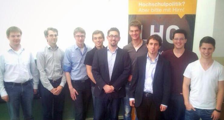 v.l.: Kai Vollbrecht, Daniel Eberz, Björn Michael Flechtner, Fabian Kurz, Alexander Schopf, Sascha Lucas, Mark Dornbach, Martin Brüssow, Sven Dorkenwald