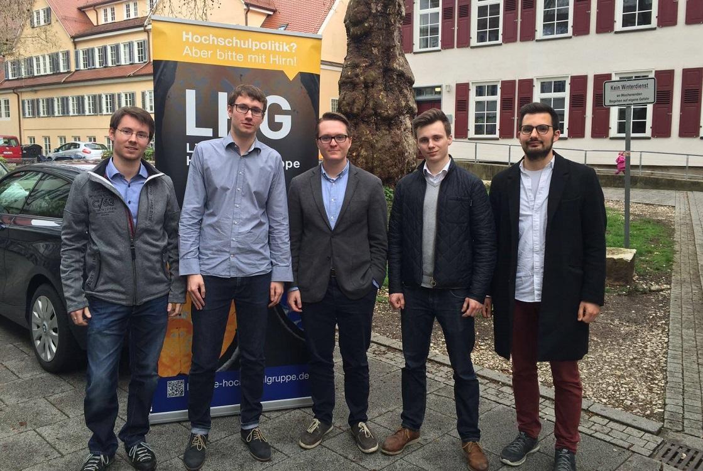 v. l.: Frank Ehrle, Björn Flechtner, Maximilian Möws, Lasse Michelsen, Said Werner