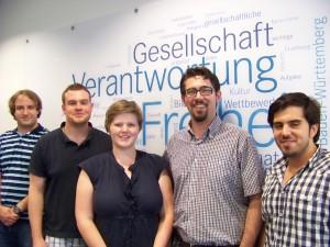 Die Teilnehmer des Reaktivierungstreffens v.l.: Robert, Rouven, Anika, Alexander und Tufan