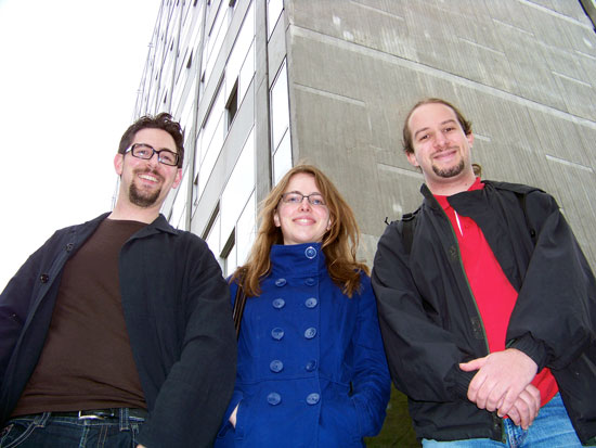v.l.n.r.: Alexander Schopf, Muiriel Thierhoff, Robert Meldt