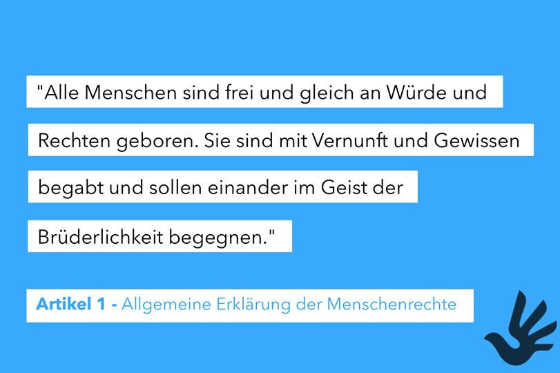 Menmschenrechtswoche Art. 1